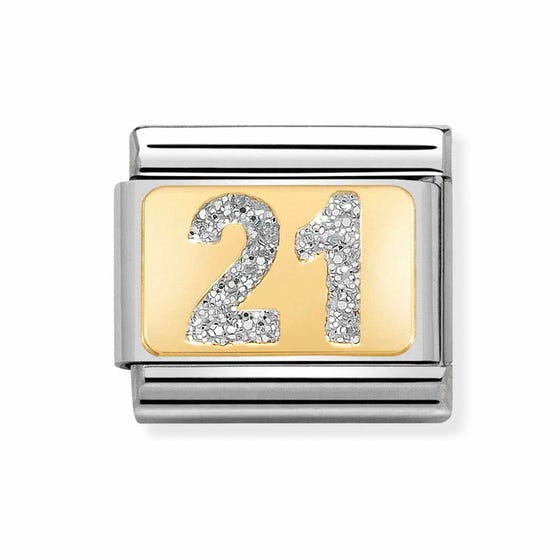 Classic Gold 21 with Glitter Charm