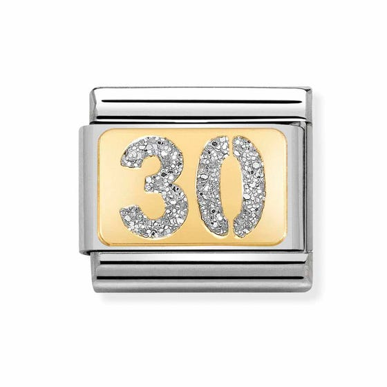 Classic Gold 30 with Glitter Charm