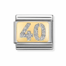 Classic Gold 40 with Glitter Charm