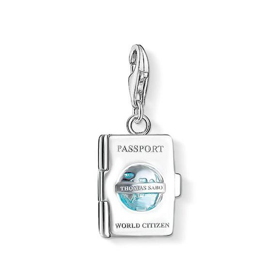 Passport Silver Enamel Charm
