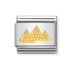 Classic Gold Pyramids Charm