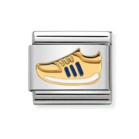 Classic Gold Blue Trainer Charm