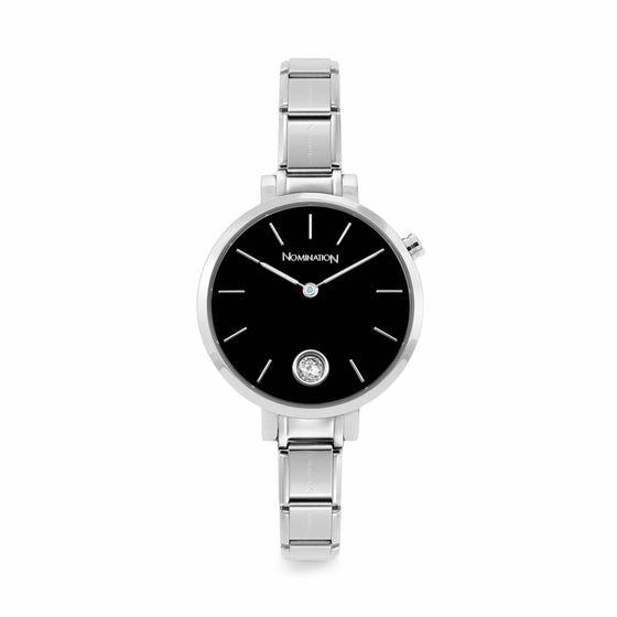 Classic Time Paris Black Sunray & CZ Dial Watch