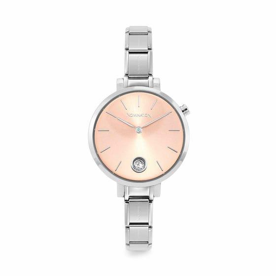 Classic Time Paris Rose Sunray & CZ Dial Watch