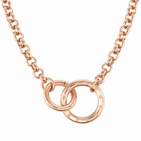 Infinito Rose Gold Plated Interlocking Rings Necklace