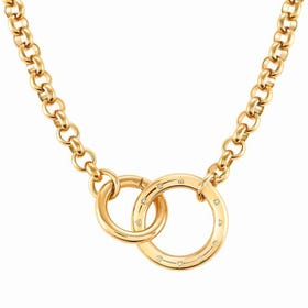 Infinito Gold Plated Interlocking Rings Necklace