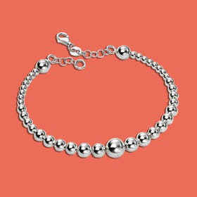 Series 1 Silver Graduating Ball Bracelet
