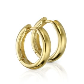 Anahita Gold Plated Silver Curved Hoop Earrings