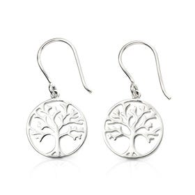 Symbols Silver Tree of Life Drop Earrings