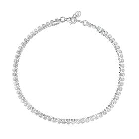 Christa Silver CZ Double Row Anklet