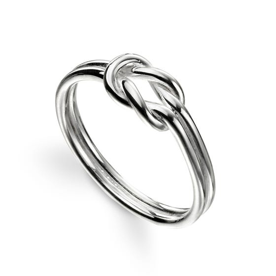 Symbols Silver Knot Ring