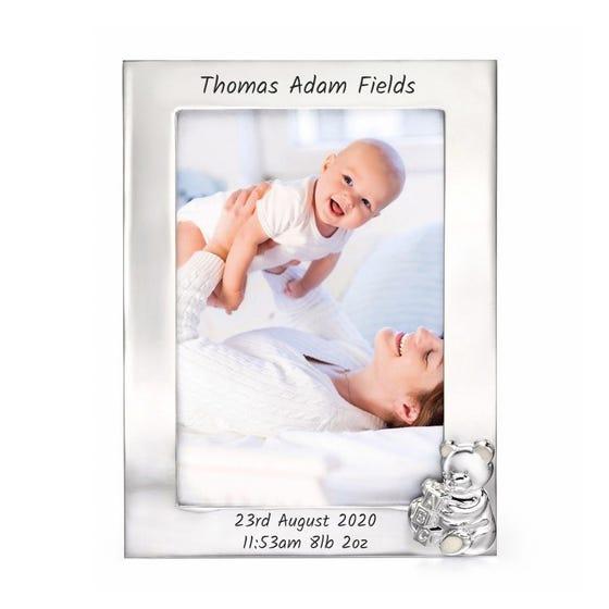 Silver Plated Teddy Bear Photo Frame