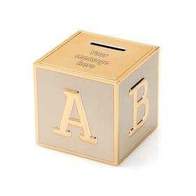 Rose Gold Plated 'ABC' Money Box