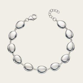 Series 1 Silver Organic Pebble Bracelet
