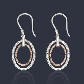 Series 1 Rose Gold Plated Silver Bamboo Earrings