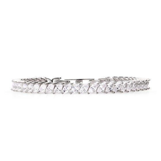 Silver Zirconia Marquise Bracelet