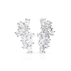 Silver Zirconia Statement Scatter Earrings
