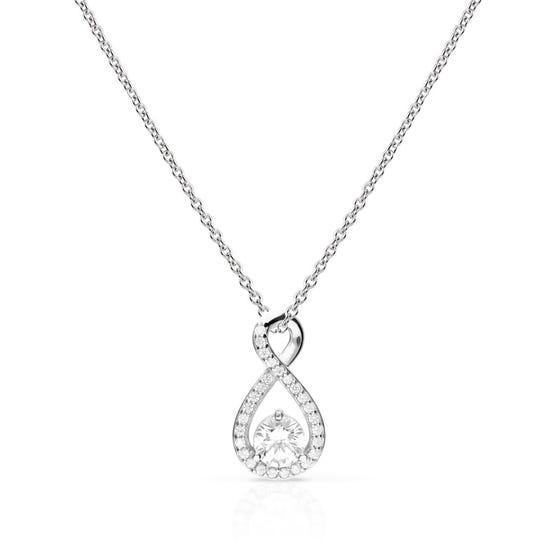 Silver Zirconia Infinity Necklace