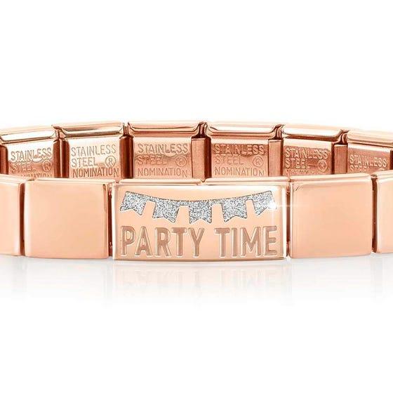 GLAM Rose Gold Party Time Bracelet