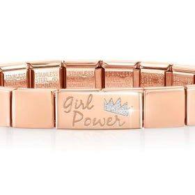 GLAM Rose Gold Girl Power Bracelet