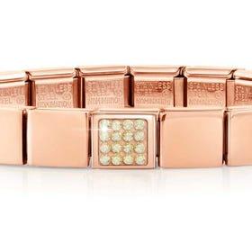 GLAM Rose Gold Pave Champagne Swarovski Crystal Bracelet