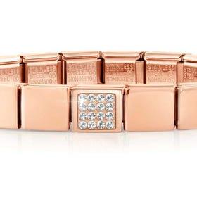 GLAM Rose Gold Pave Swarovski Crystal Bracelet