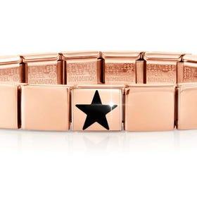 GLAM Rose Gold Black Star Bracelet