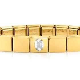 GLAM Gold Faceted Oval CZ Bracelet