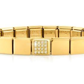 GLAM Gold Pave Yellow Swarovski Crystal Bracelet