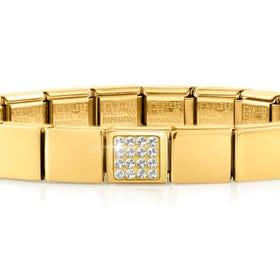 GLAM Gold Pave Crystal Bracelet
