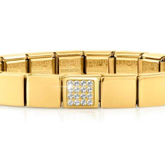 GLAM Gold Pave Swarovski Crystal Bracelet