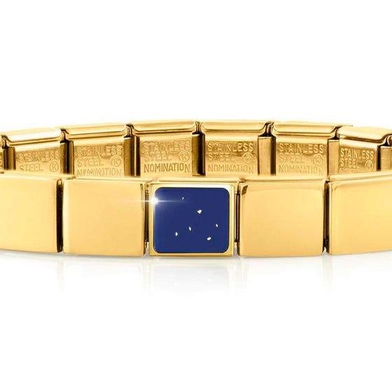 GLAM Gold Lapis Lazuli Square Bracelet