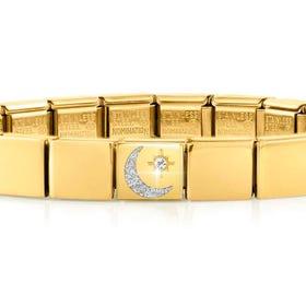 GLAM Gold Moon & Star Bracelet