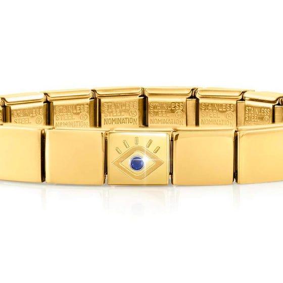 GLAM Gold CZ Evil Eye Bracelet