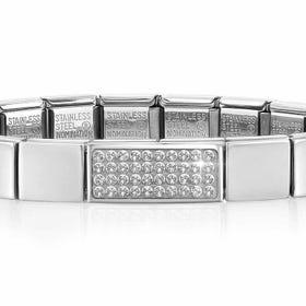 GLAM Double Pave Crystal Bracelet