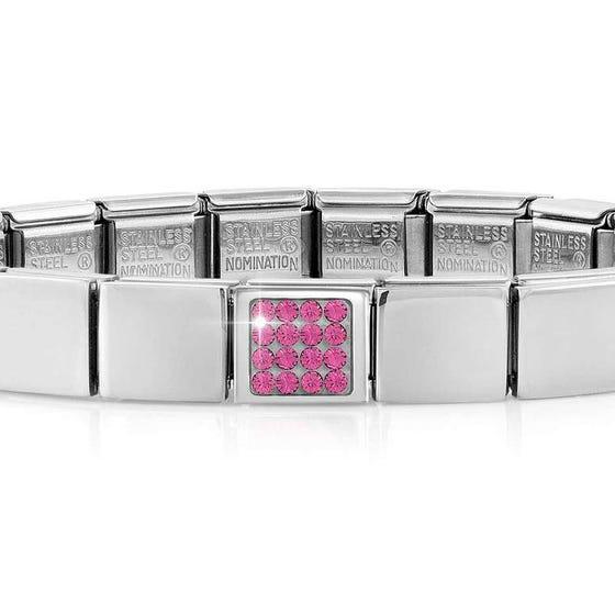 GLAM Pave Pink Crystal Bracelet