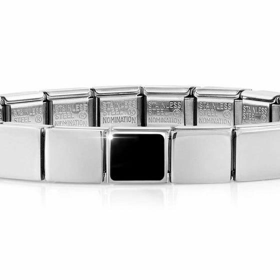 GLAM Black Agate Square Bracelet