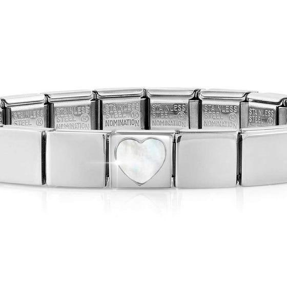 GLAM Mother of Pearl Heart Bracelet