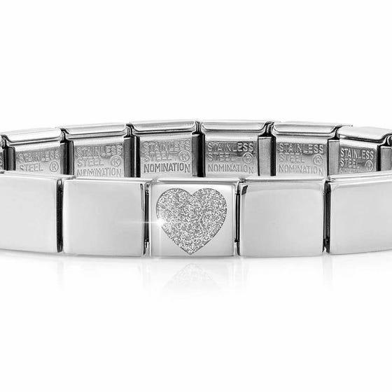 GLAM Glitter Heart Bracelet