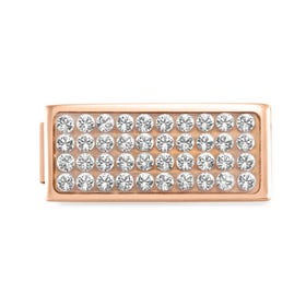 GLAM Rose Gold Pave Crystal Double Charm