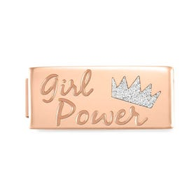 GLAM Rose Gold Girl Power Double Charm