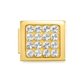 GLAM Gold Pave Crystal Charm