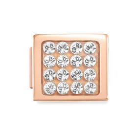 GLAM Rose Gold Pave Crystal Charm