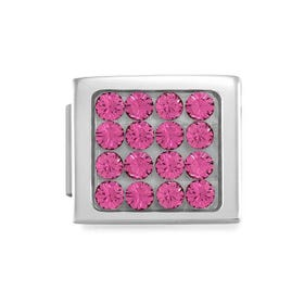 GLAM Pave Pink Crystal Charm