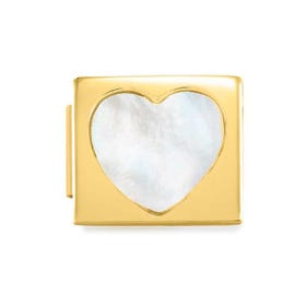GLAM Gold Mother of Pearl Heart Charm