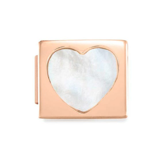 GLAM Rose Gold Mother of Pearl Heart Charm