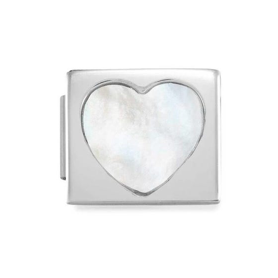 GLAM Mother of Pearl Heart Charm