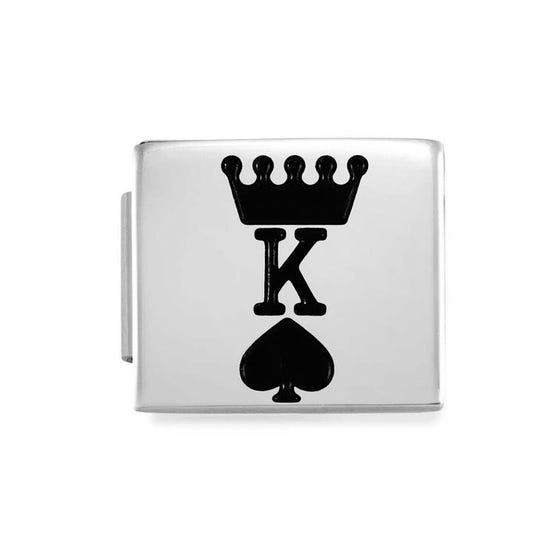 GLAM King of Spades Charm