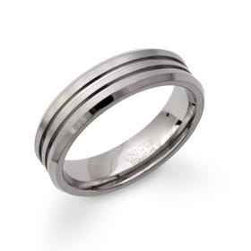 Titanium Double Groove 6mm Ring