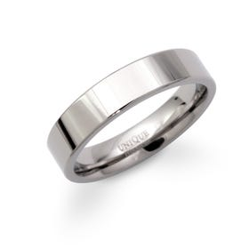 Polished 5mm Titanium Flat Court Ring